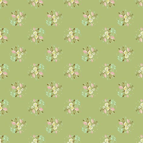 Roses from Regency Period fabric by joanmclemore on Spoonflower - custom fabric