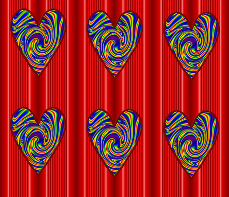 Psychedelic Valentines I fabric by katsanders on Spoonflower - custom fabric