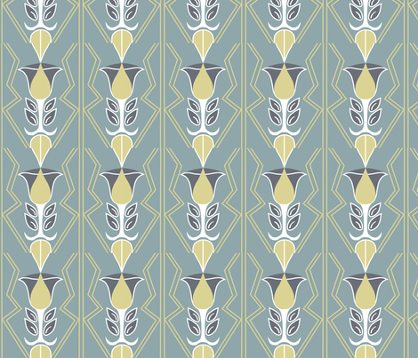 deco tulips fabric by angeladesigns on Spoonflower - custom fabric