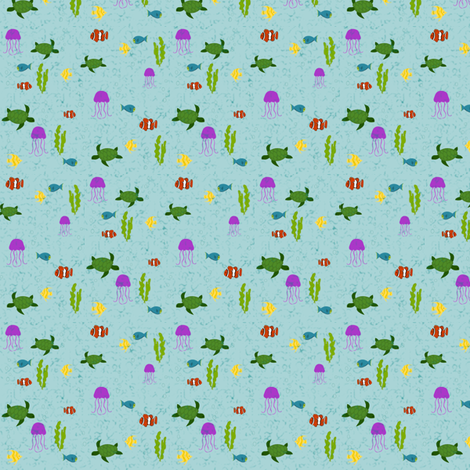 Life Under the Sea fabric by ninjaauntsdesigns on Spoonflower - custom fabric