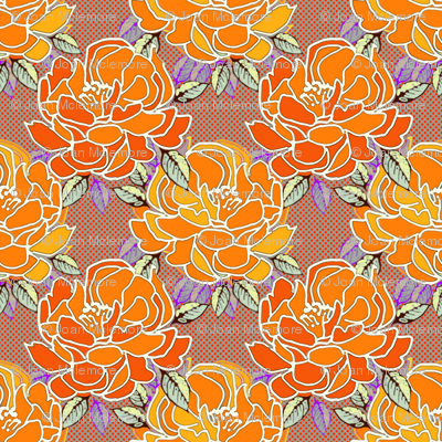Blossoms in Tangerine