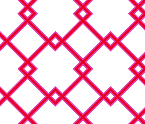 Lattice in valentine fabric by domesticate on Spoonflower - custom fabric