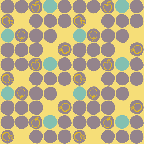 Apple Di Do Dots- Blue and Grey fabric by gsonge on Spoonflower - custom fabric