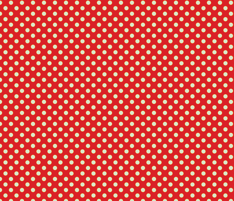Red Orange with Light Blue Dots - Vintage fabric by anntuck on Spoonflower - custom fabric