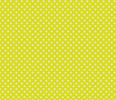 Yellow-Green with Light Blue Dots - Vintage fabric by anntuck on Spoonflower - custom fabric