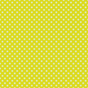 Yellow-Green with Light Blue Dots - Vintage