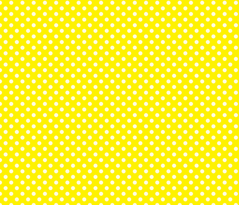 Yellow with White Dots - Vintage fabric by anntuck on Spoonflower - custom fabric