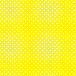 Yellow with White Dots - Vintage