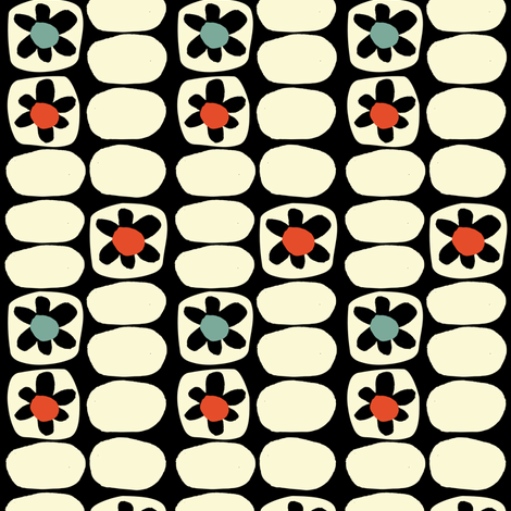 Flower Fancy- Black and White fabric by gsonge on Spoonflower - custom fabric