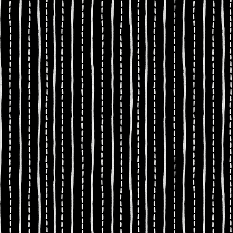 Writing Paper- Black and White fabric by gsonge on Spoonflower - custom fabric