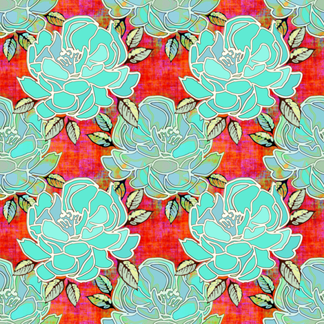 Blossoms of Blue fabric by joanmclemore on Spoonflower - custom fabric