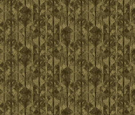 Dark sepia dragon scale brocade fabric by su_g on Spoonflower - custom fabric