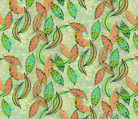 Love leaves by Su_G fabric by su_g on Spoonflower - custom fabric
