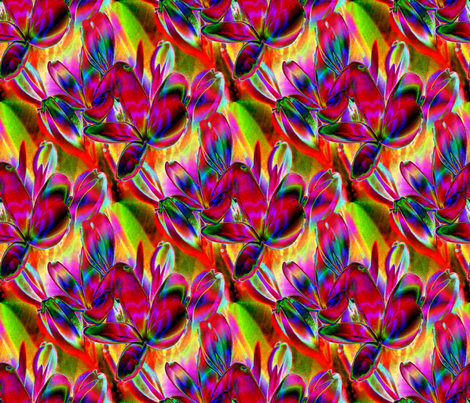 Jeweled Plumeria 10.5 x 9 fabric by missourah_gal on Spoonflower - custom fabric