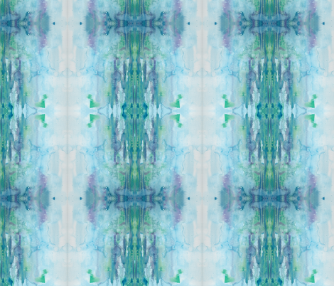 water color blue fabric by aftermyart on Spoonflower - custom fabric