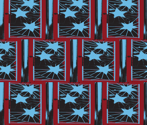 Stars and Stripes fabric by susaninparis on Spoonflower - custom fabric