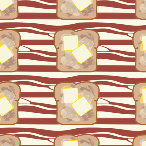 toast_and_bacon fabric by little_leah on Spoonflower - custom fabric