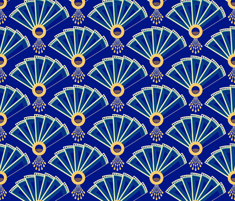 deco fans fabric by coggon_(roz_robinson) on Spoonflower - custom fabric
