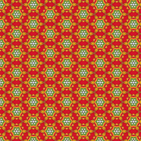 Cyompon's Fiesta Flower fabric by siya on Spoonflower - custom fabric