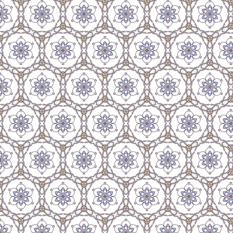 Pearlweb and Flowers fabric by siya on Spoonflower - custom fabric