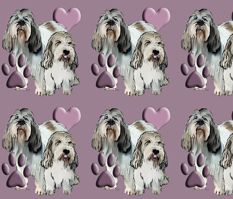 Petite Basset Griffon Vendeen fabric by dogdaze_ on Spoonflower - custom fabric