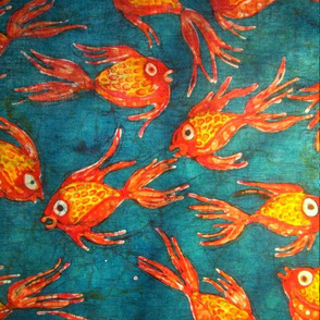 Kate's fish batik, basic repeat