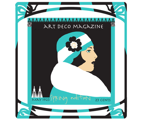 Art Deco Magazine 1923 fabric by karenharveycox on Spoonflower - custom fabric