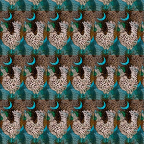 turquoisemoonroosterfabric