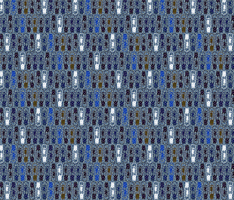 Vacuum Tube Snowstorm-1/3 fabric by glimmericks on Spoonflower - custom fabric