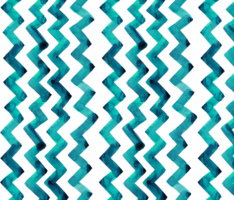 cestlaviv_ new teal two step (90degrees) fabric by cest_la_viv on Spoonflower - custom fabric