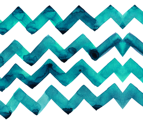 cestlaviv_teal twostep fabric by cest_la_viv on Spoonflower - custom fabric