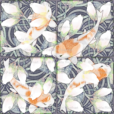 waterlily koi pond sketchy