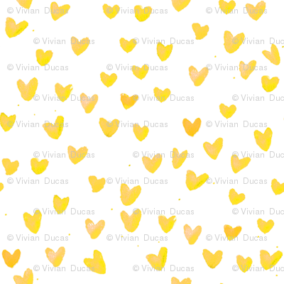 cestlaviv_yellow hearts on white