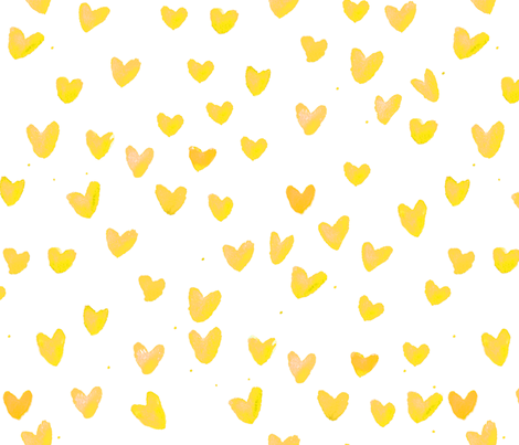 cestlaviv_yellow hearts fabric by cest_la_viv on Spoonflower - custom fabric