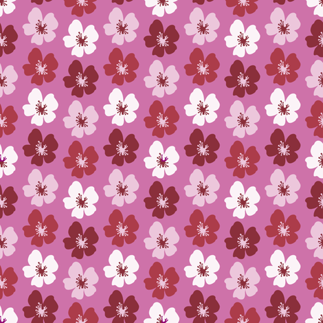 cherryBlossom_pink fabric by lilliblomma on Spoonflower - custom fabric