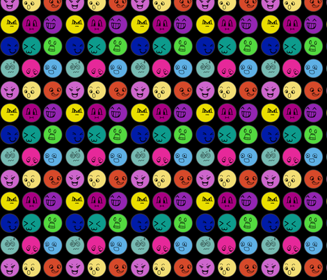Emoticons fabric by glanoramay on Spoonflower - custom fabric