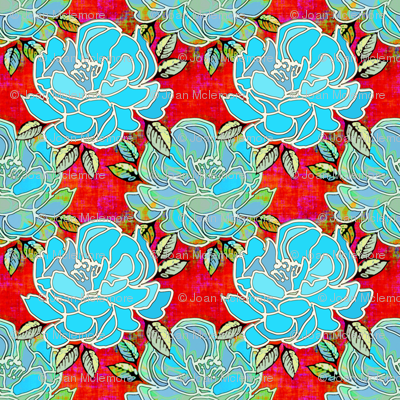 Little Bouquet in blue and red