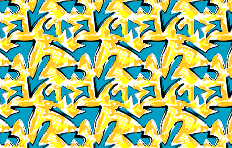 Arrow Graffiti - franny711 - Spoonflower