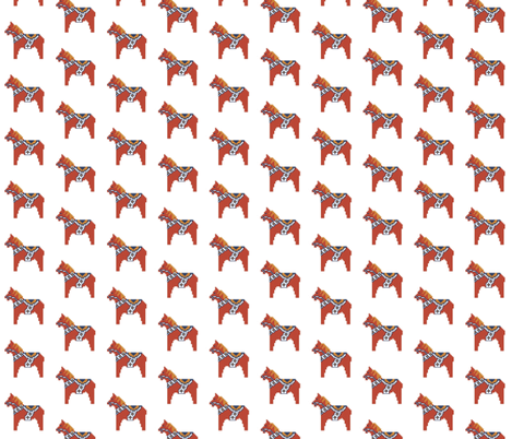 Dala horse small fabric by susanferris on Spoonflower - custom fabric