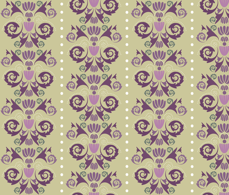 multi-damask-lavender-field fabric by owlandchickadee on Spoonflower - custom fabric