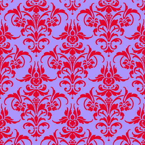 Verushka's Sister Damask fabric by peacoquettedesigns on Spoonflower - custom fabric