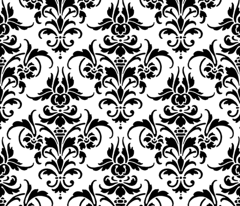 Marcella Damask fabric by peacoquettedesigns on Spoonflower - custom fabric