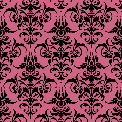Julia Damask fabric by peacoquettedesigns on Spoonflower - custom fabric