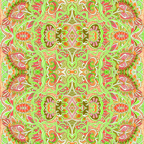 Hippy Dippy Oranges and Lime fabric by edsel2084 on Spoonflower - custom fabric