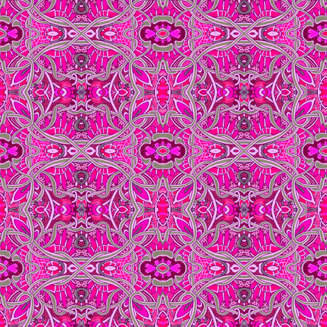 Pink and Gray Pseudo Celtic Martian Garden fabric by edsel2084 on Spoonflower - custom fabric
