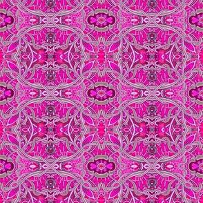 Pink and Gray Pseudo Celtic Martian Garden