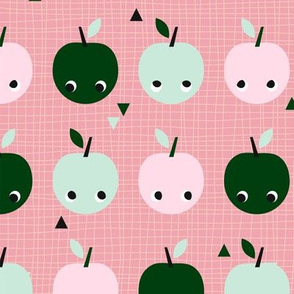 Apples in line