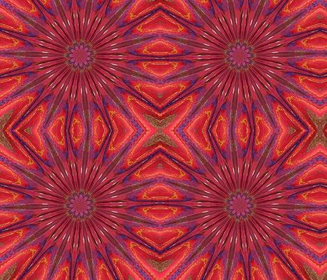 Red embroidery starburst fabric by elizabemmenswilson on Spoonflower - custom fabric
