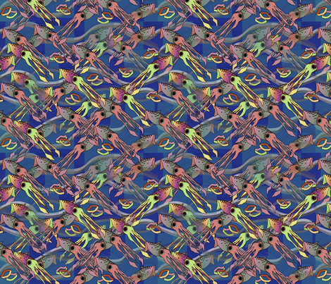©2011 Calimari-muted fabric by glimmericks on Spoonflower - custom fabric