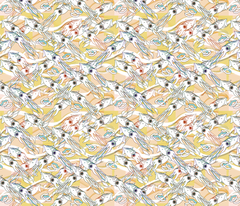 ©2011 Calimari Easter Squid fabric by glimmericks on Spoonflower - custom fabric